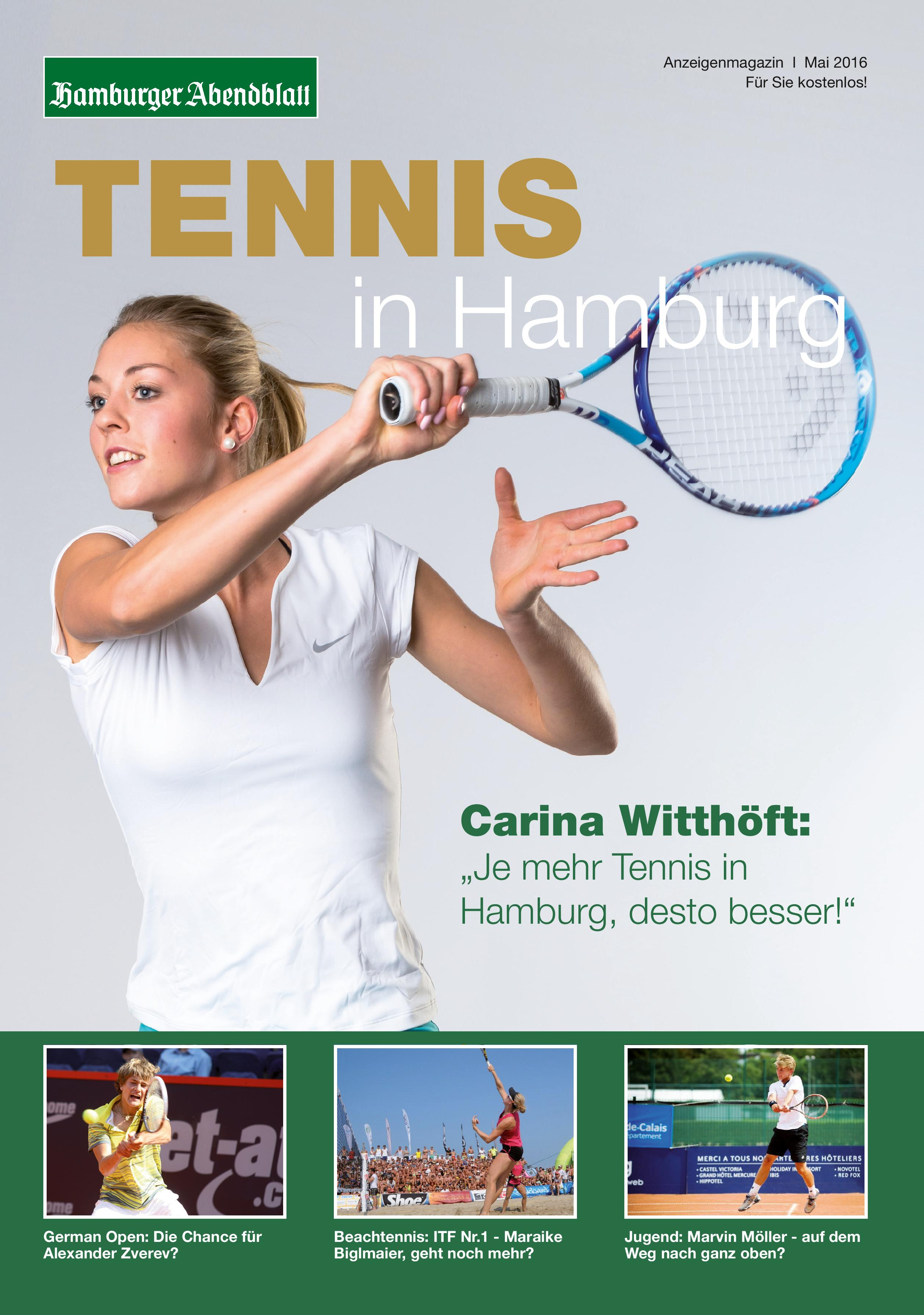 Tennis in Hamburg: Kostenloses Magazin für Hamburger