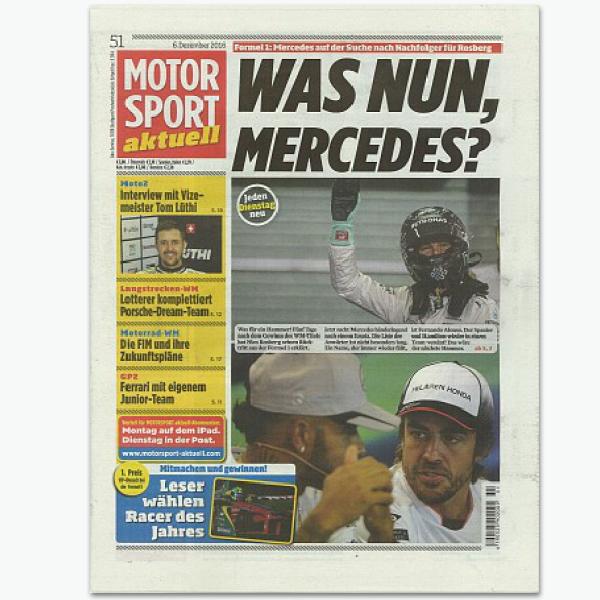 MOTORSPORT aktuell - Sportmagazin im Abonnement